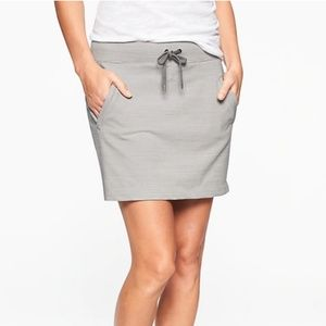 Athleta Striped Modern Metro Skort Silver Grey D1